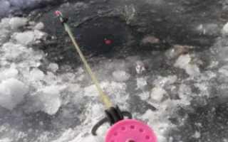 Оснастка зимней поплавочной удочки для ловли плотвы