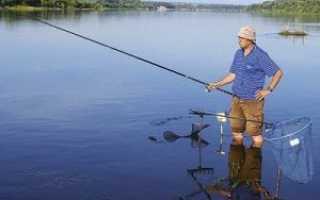Рыбалка маховой удочкой на течении