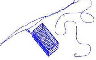 Как привязать кормушку к основной леске на фидер